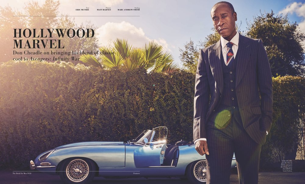Don Cheadle Cover Story - The Book For Men Spring/Summer 2018