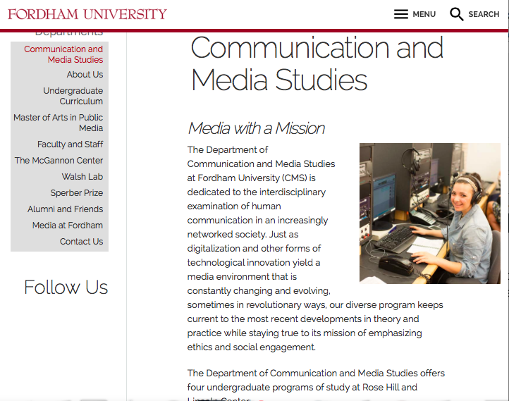 Digital Storytelling: Fordham University