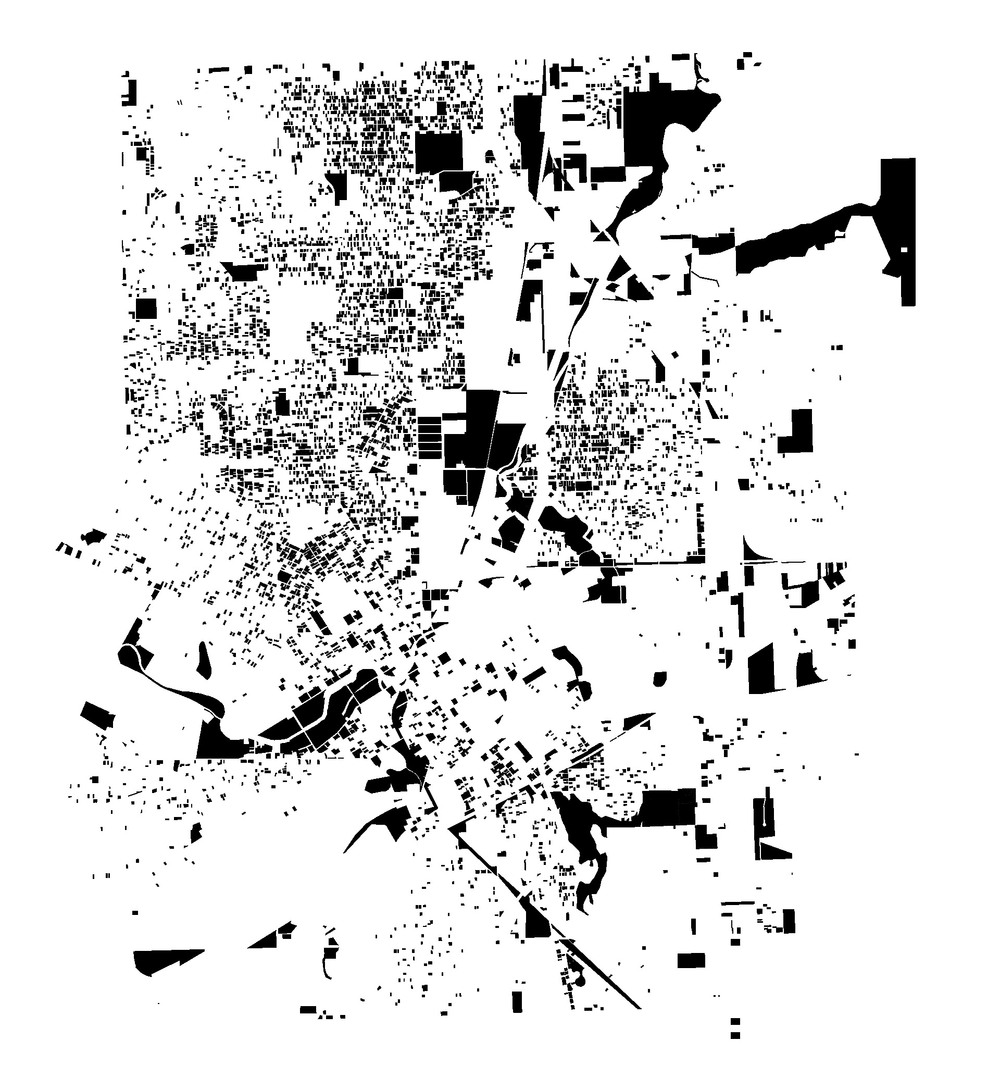 Mapping land in Flint, Michigan that the local government considers vacant or with extreme structural concern