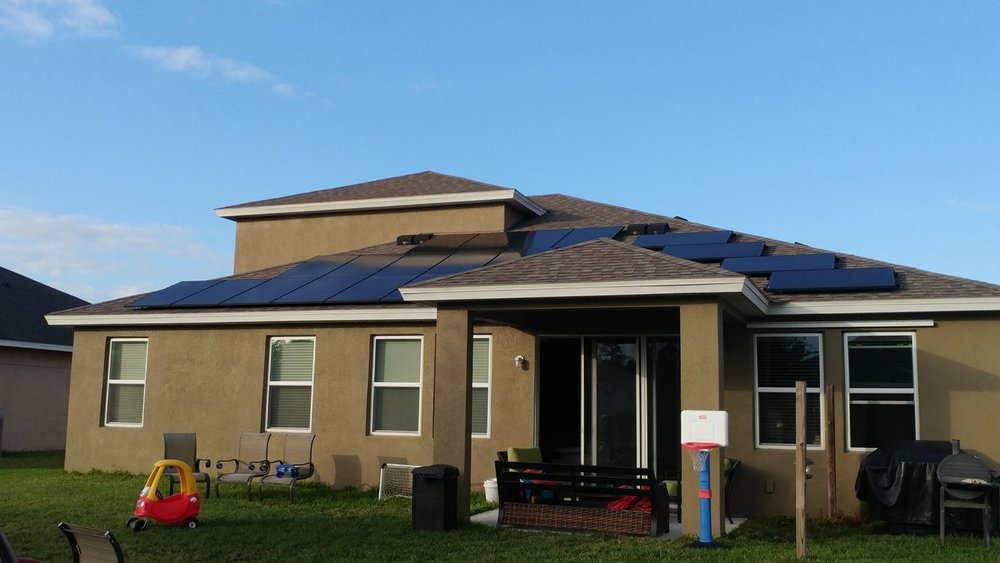 A Perfect Solar Panel System for this residential property in Tampa Florida