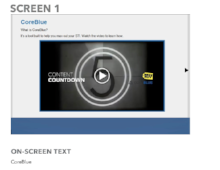 ELEARNING COURSE STORYBOARD Content Writing