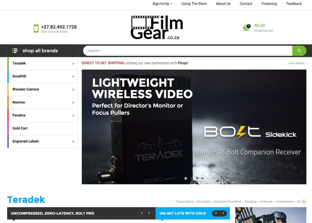 Filmgear.co.za  a resource for professional film equipment for South Africa
