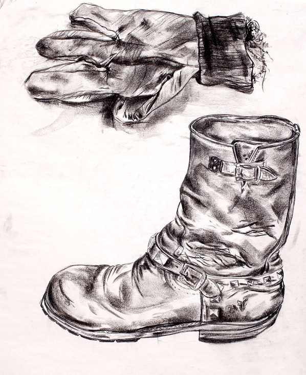 Glove and Boot in charcoal_2011.jpg