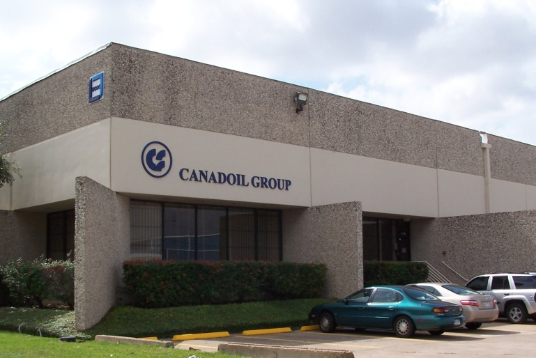 Custom Formed Plastic CAB Logo and Letters with Semi Gloss Finish - Canadoil Group, Houston TX