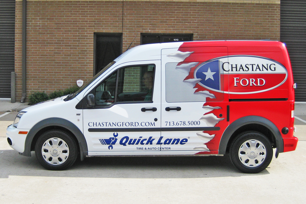 Chastang Ford Service >> Houston's Vehicle Wrap Experts   Saifee Signs, Houston TX