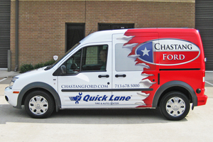Custom Designed Vehicle Wrap For A Truck Dealership