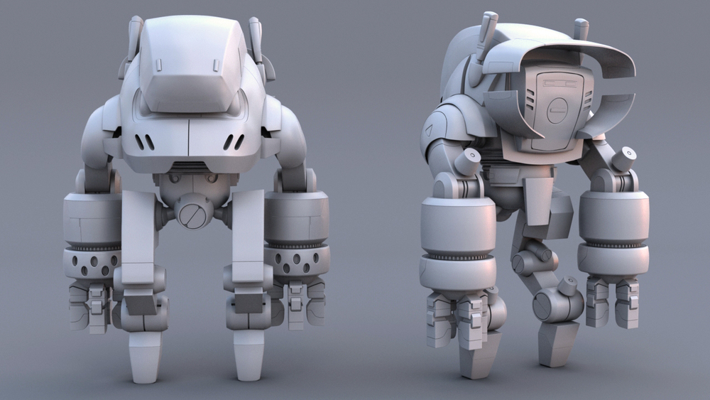 Modeling is complete and its off to texturing. Concept art from http://chocolatesoop.com/