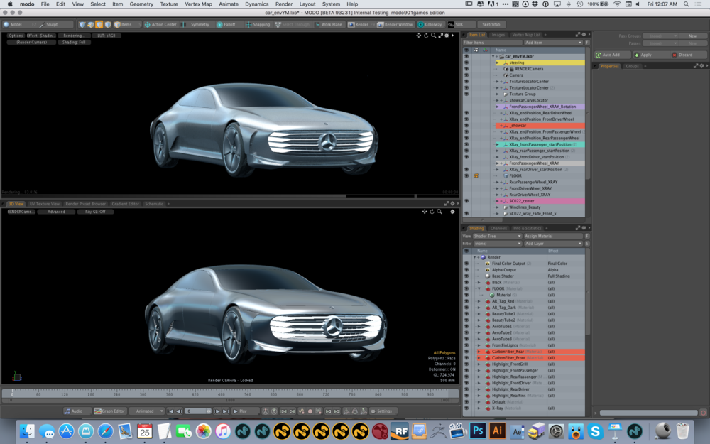 Modo's advanced viewport in action 2