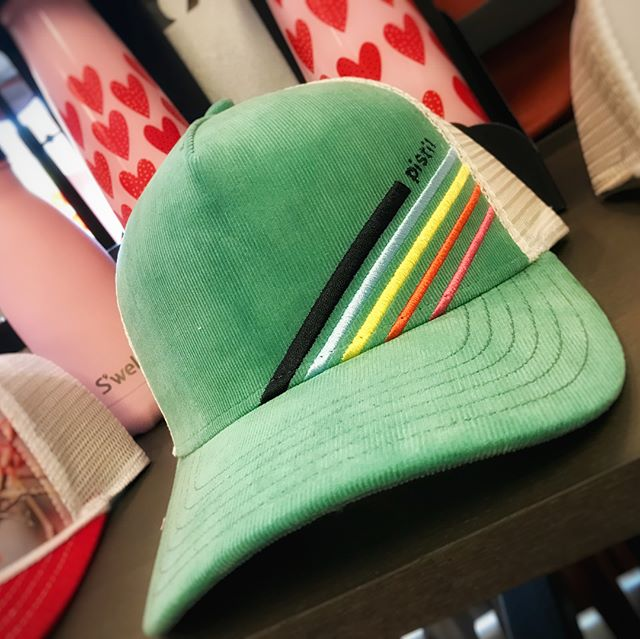 Check out these sweet new retro hats!! We have a great selection of hats for everyone! #summerhats #summer #decorahsummer #hatchery #buffhat