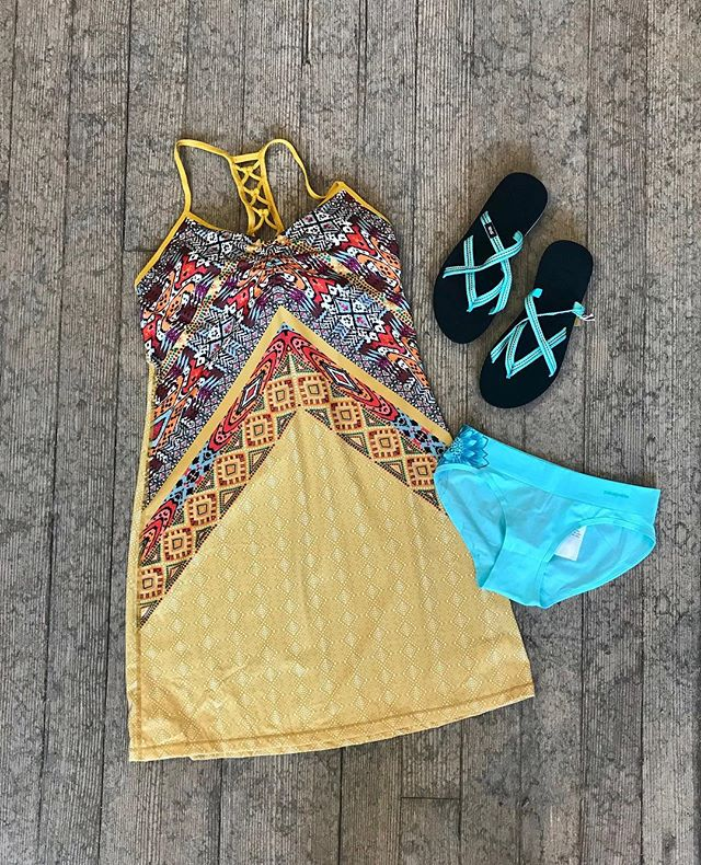 Isn't this Prana dress beautiful!!?? These dresses are perfect for so many occasions from hiking the trails to eating tacos downtown! Sundress season is here!! #pranadress #becomfy #summertime #sundress #sundressseason #instock #decorah #hatchyouradventure @prana