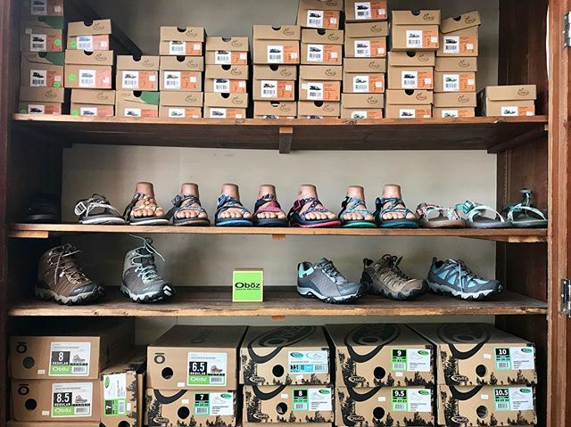 Woah!!! Check out the Chaco/hiking shoe selection!! With this hot weather there's nothing better than a pair of Chacos! #chacos #chaconation #summer #newatthehatch #decorah #decorahfashion #decorahiowa #hatchyouradventure @chacofootwear @obozfootwear