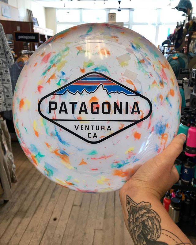 YESSSS new Patagonia frisbee's are in! How sweet is this design! #patagonia #whowantstoplay #frisbee #indecorah #decorah #hatchery #sweettattoo #downtown #shopsmall @patagonia