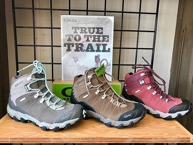 It's 10am! Which means the hatchery is open and ready to outfit you for an adventure! ☀️ ⛰ Check out these VERY comfortable Obōz hiking boots! Our talented team can help you find the perfect fit! #oboz #hatchery #hatchyouradventure #helpfulteam #hereforyou #smalltownshopping #shopsmall #supportlocalbusiness