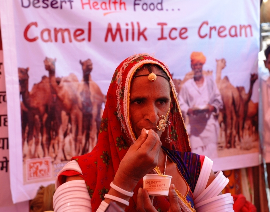 Tasting camel milk ice cream.jpg