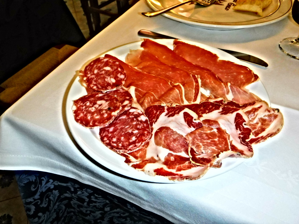 5. Lunch begins with an appetizing array of salumi -local cured meats (1).JPG