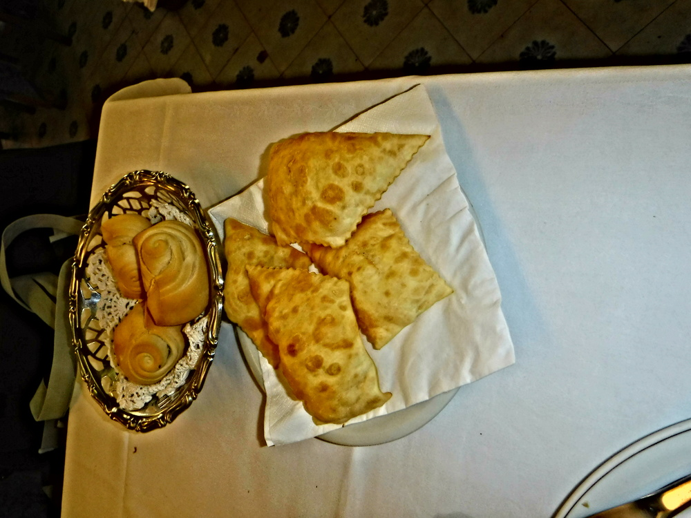 6. Freshly baked coppiette bread rolls & gnocchi friti-puffy pillows of dough.JPG
