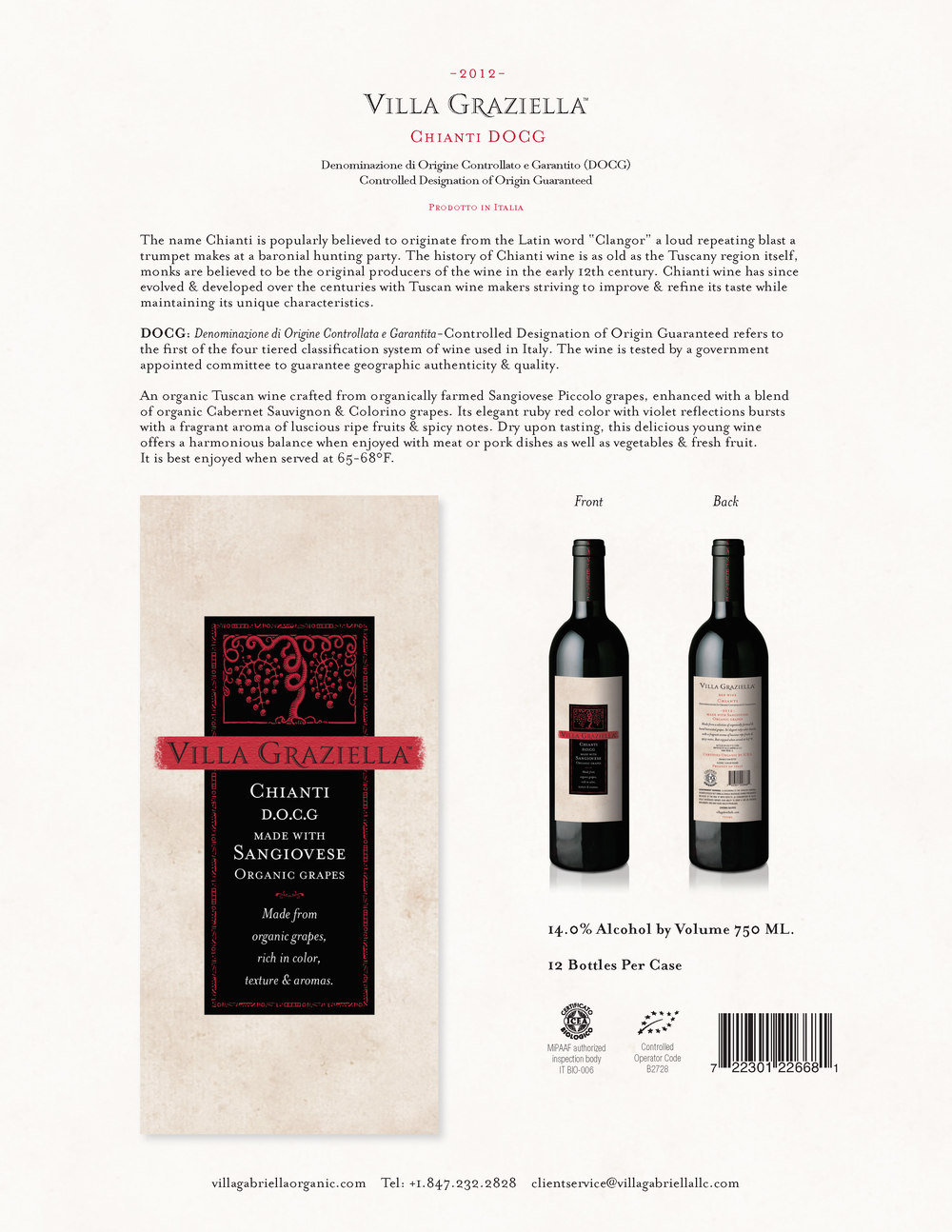 -2012- Chianti DOCG Sell Sheet