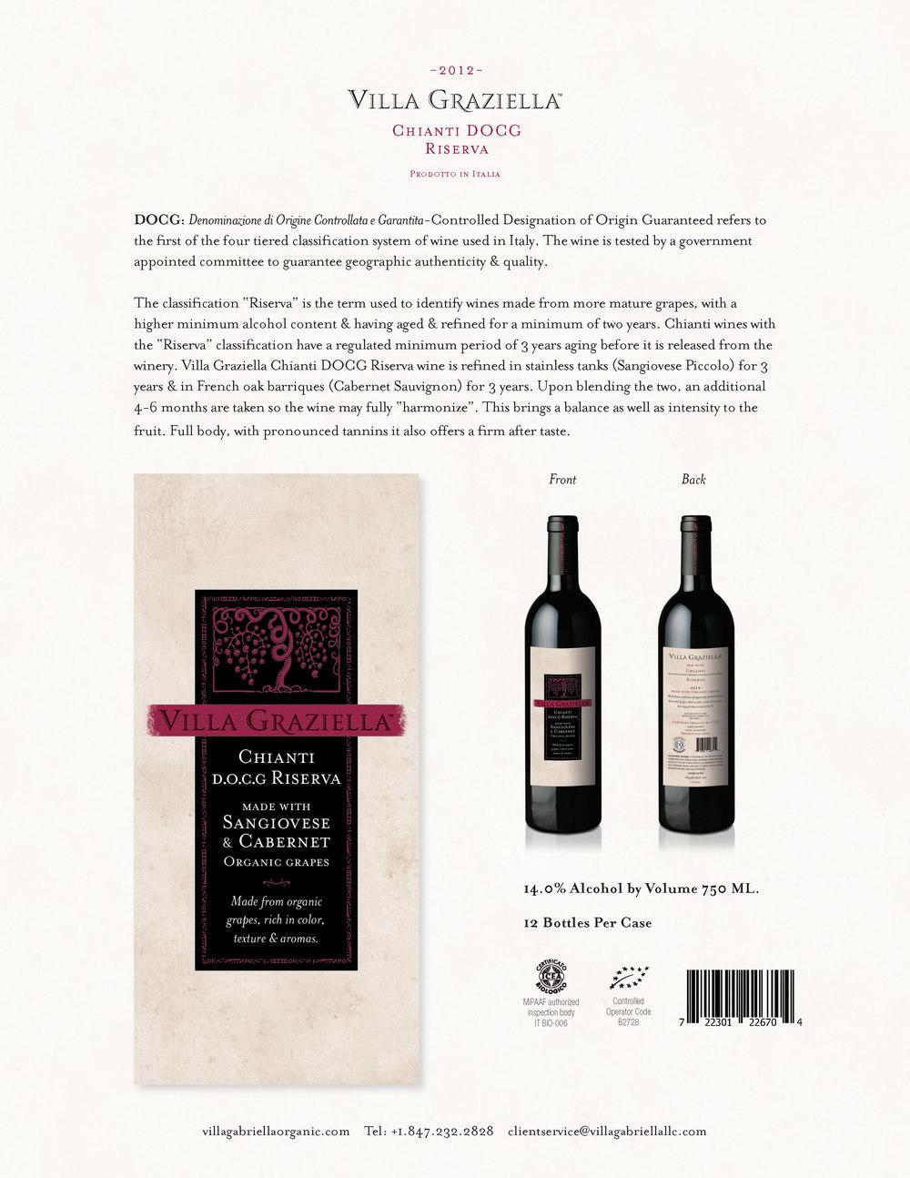 -2012- Chianti DOCG Riserva Sell Sheet