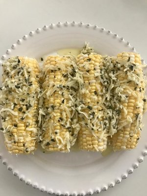 - #4 Olive Oil Parmesan Grilled Corn
