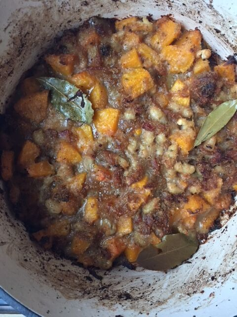 Roasted Garlic & Butternut Cassoulet- recipe  here !