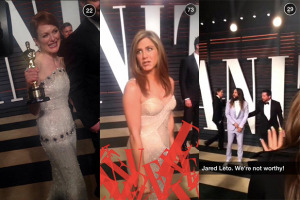 Vanity Fair Snapchat Story