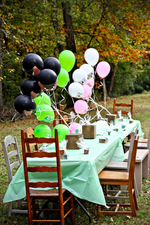 10th Birthday Minecraft Themed Party