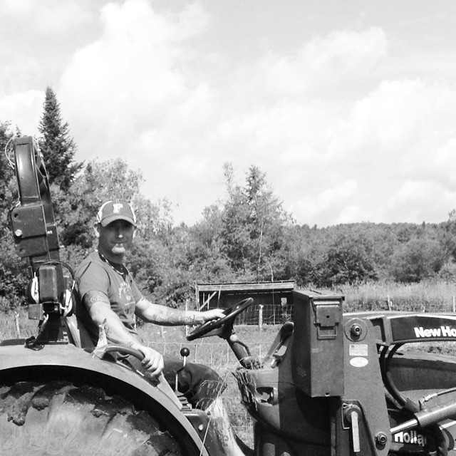 And there's Dave, driving the manly tractor.