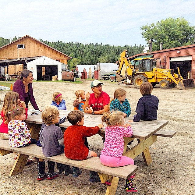 Farmer Tim filling Woodland Community School Farm Camps in about all things farming! :-)