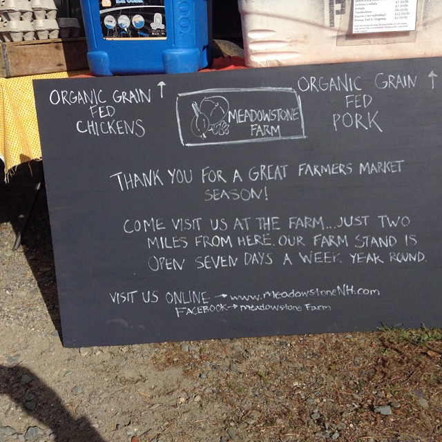 Thank you for supporting us at the farmers markets this season!