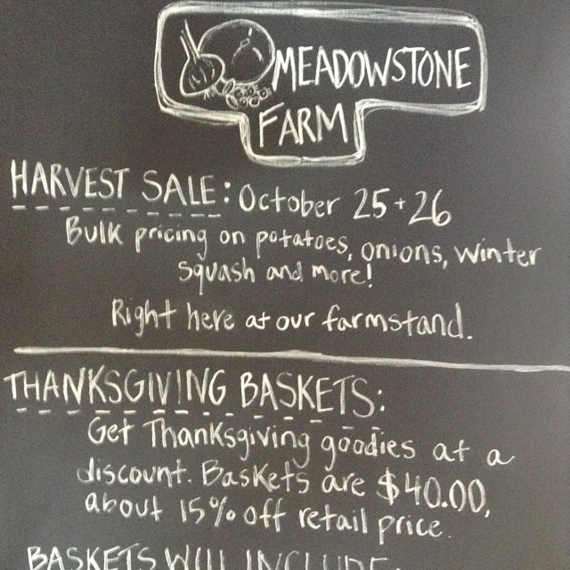Harvest sale this weekend here at the farm. Stay tuned for more details!