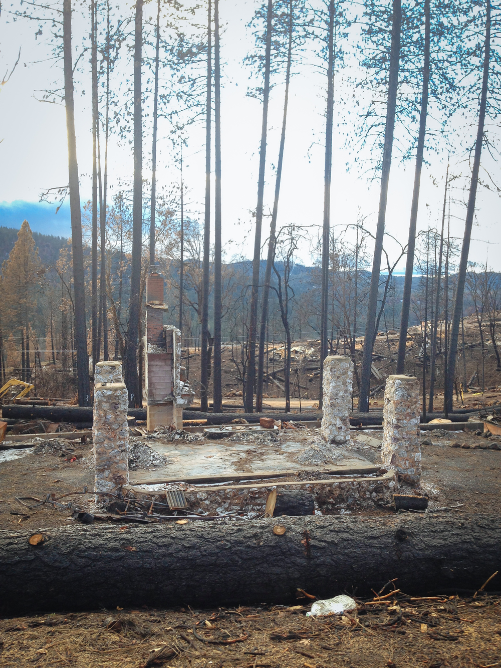 Home on Cobb Mountain destroyed in The Valley Fire - four months after the fire