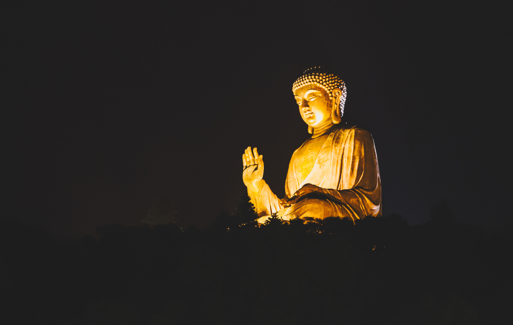 Big Buddha at nightfall