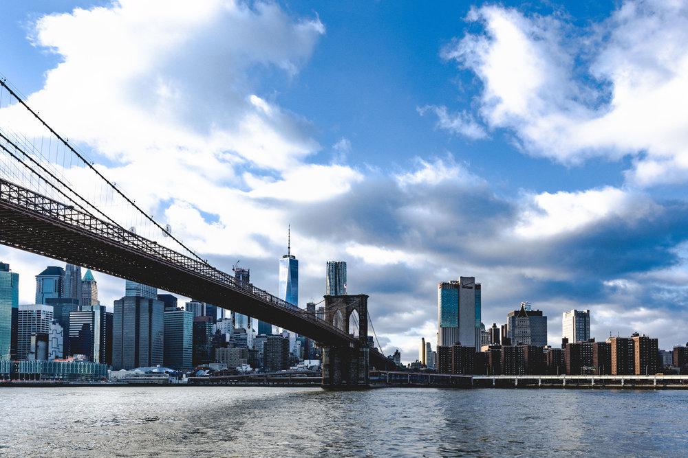 Manhattan is split between Brooklyn