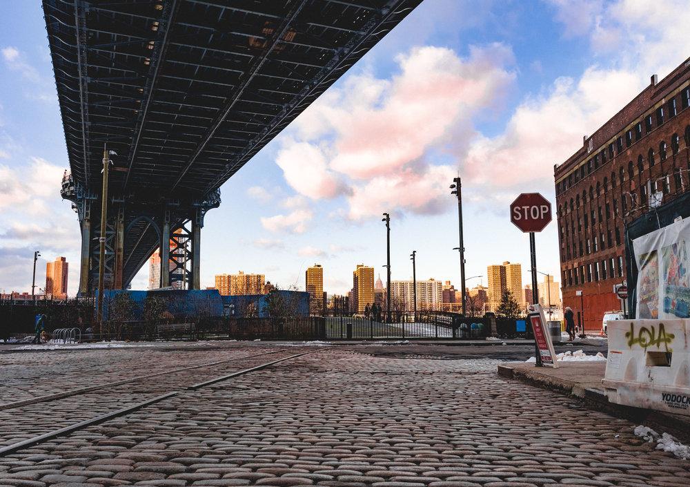 In Brooklyn, under Manhattan