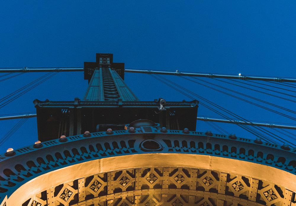 Below a Manhattan tower