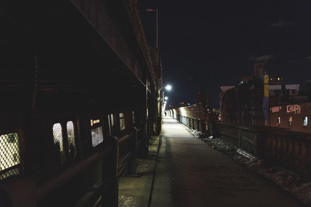 The Manhattan walk and tracks