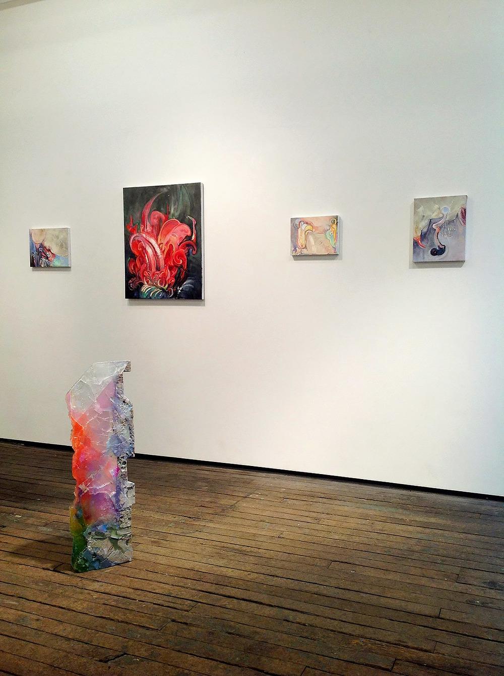Brian Wood <br> Installation View <br> Brian Wood & Amy Brener <br> Novella at Salon Zurcher, 2015