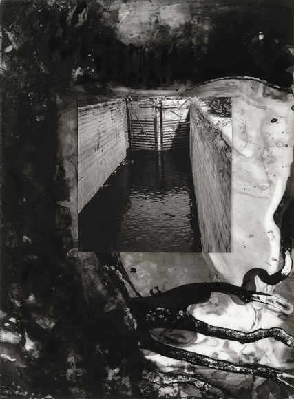 Brian Wood, Lock, Ink and photograph on mylar.  Collection:  National Gallery of Canada, Ottawa