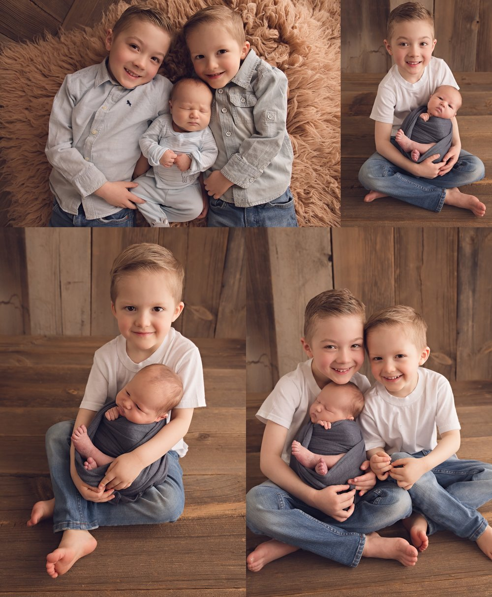 Newborn siblings becky monroe newborn photography photographer great falls mt birth baby children family couple