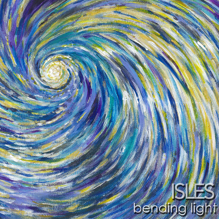 The incredible album art for  Bending Light  was hand-painted by our very own Evan Massi! We're super stoked on it!