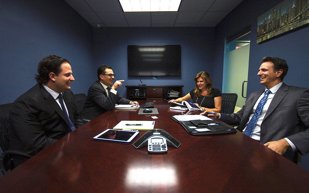 Shown (from left) are: Skyline's Partners George Menexas, Anthony Kammas, Yannis Legakis and Antonia Sellis
