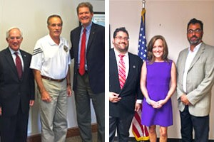 (L-R) Holender, Rep. Collins and Kubera. (L-R) Bartow, Rep. Rice and Kammas.