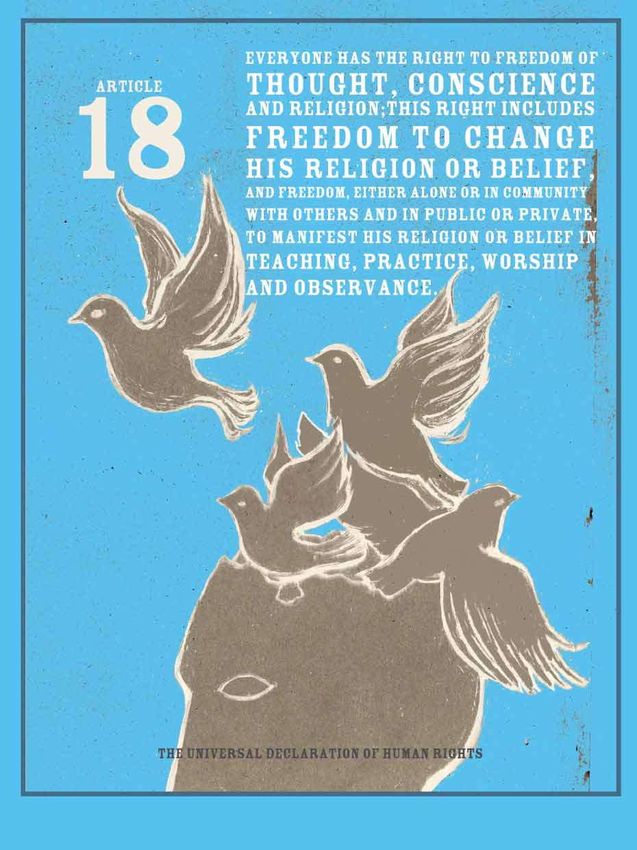 Declaration of Human Rights: Freedom of Thought