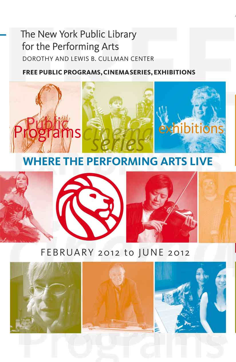 Brochure Cover, the New York Public Library for the Performing Arts