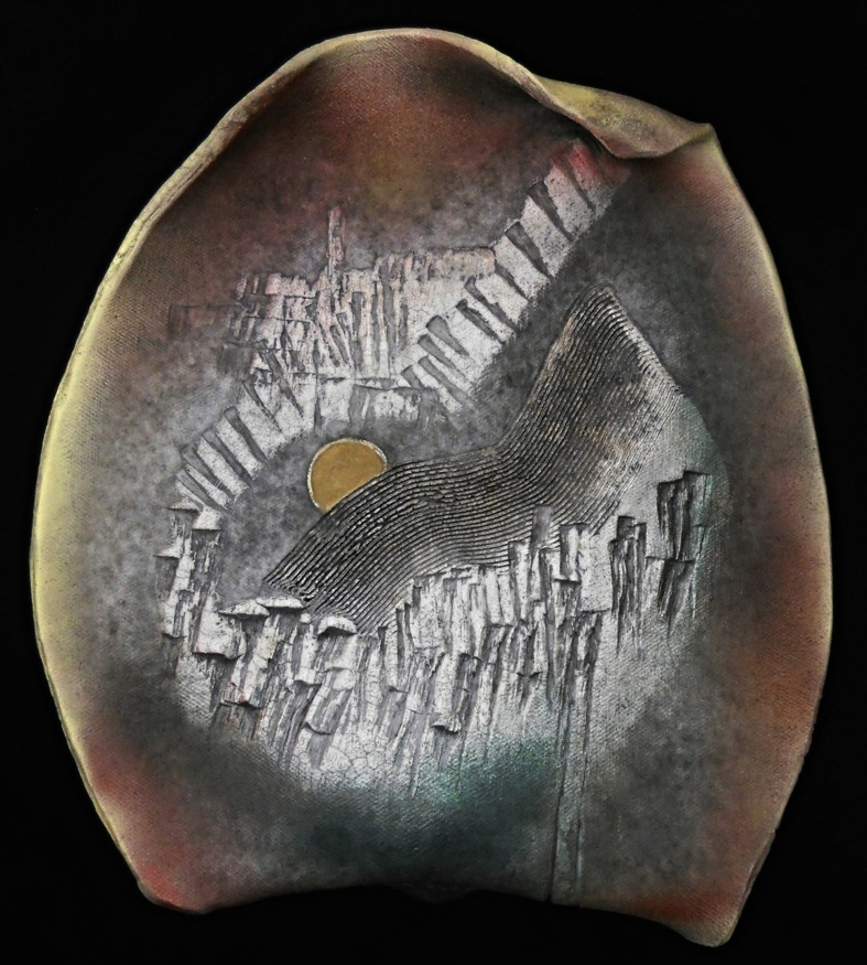 MOON RISING - RAKU WALL PIECE