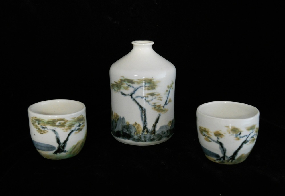 Porcelain Sake Set, View 1