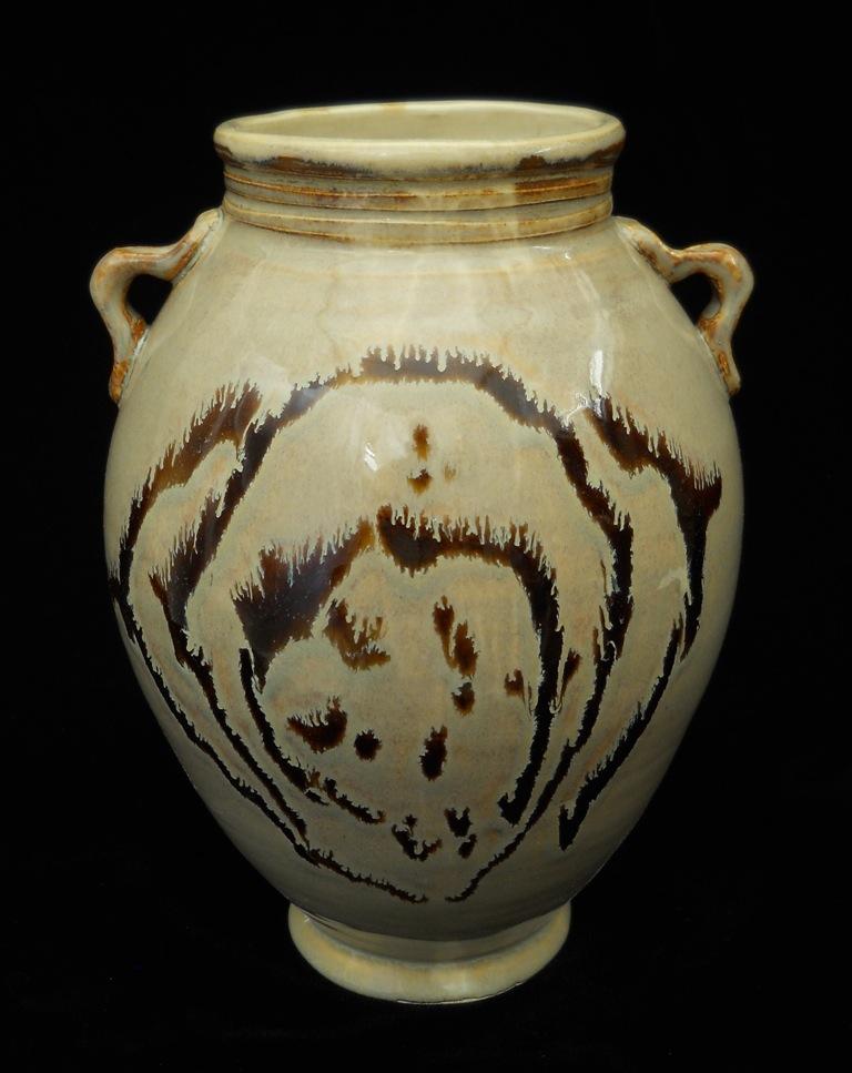 Creamy 2-Handled Vase