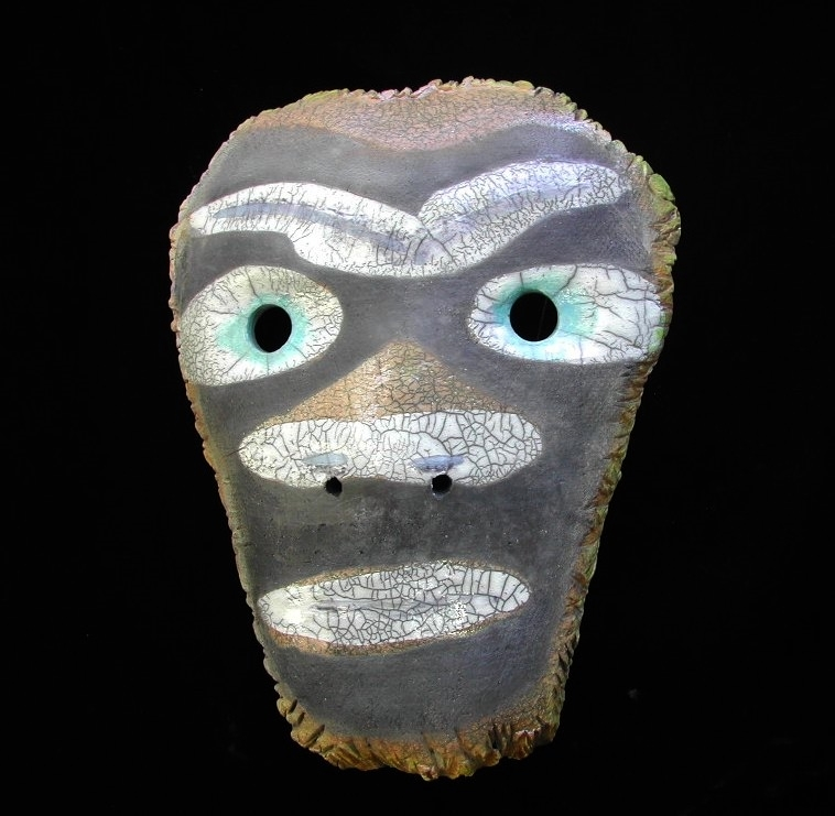 ABORIGINAL MASK - WALL PIECE