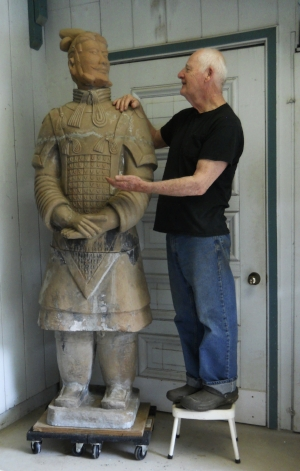 Palul bringing an old general back to life.    -A full-size, terracotta warrior restoration project.