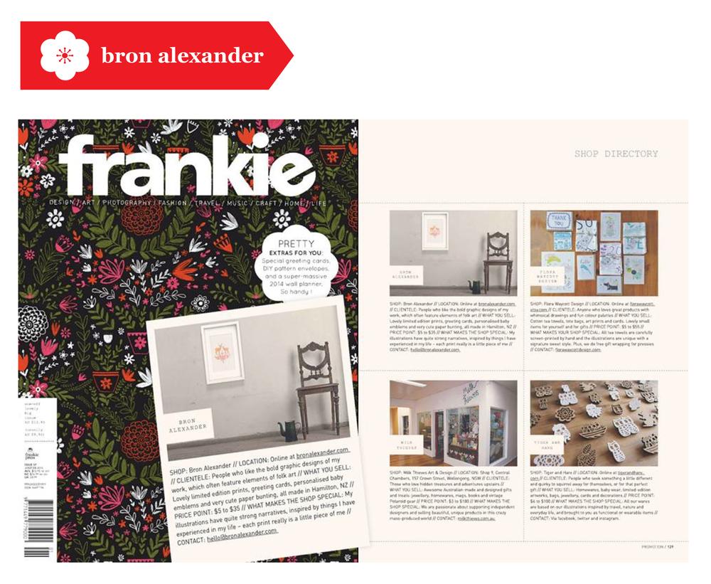 Advertisement in Frankie Magazine